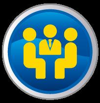 Logo kommuniziert mit Kunden