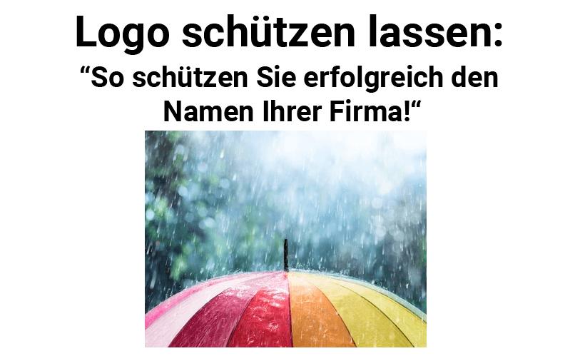 Regenschirm symbolisiert Logo Schutz