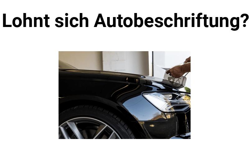 schwarzes Auto wird beschriftet