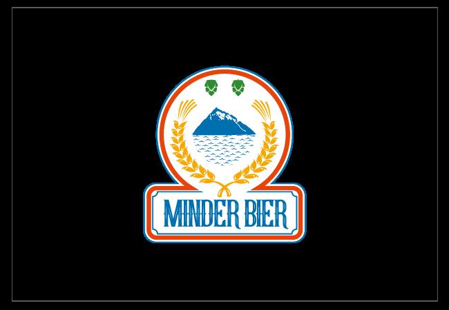 Minder Bier Logo Design