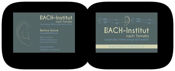 Visitenkarten Erstellung Bach Institut in Basel