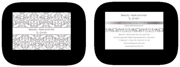Visitenkarten Design Beauty Spreitenbach