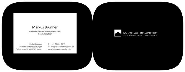 Visitenkarten Gestaltung Immobilien Schweiz